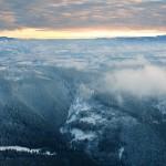Munții Bistriței (vedere aeriană)
