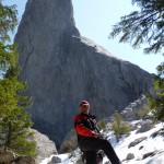 Alpinist in preajma comunei Panaci