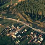 Vedere aeriană satul Panaci