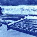 Plutași pe râul Călimănel
